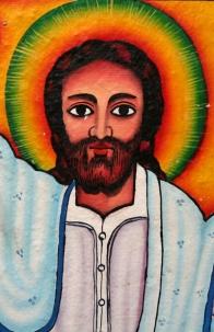 Jesus mural, Tana Lake monatery, Amhara, Ethiopia