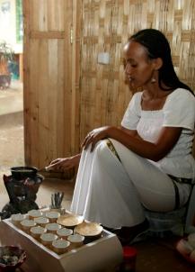 Coffee roasting, Nazareth, Ethiopia.