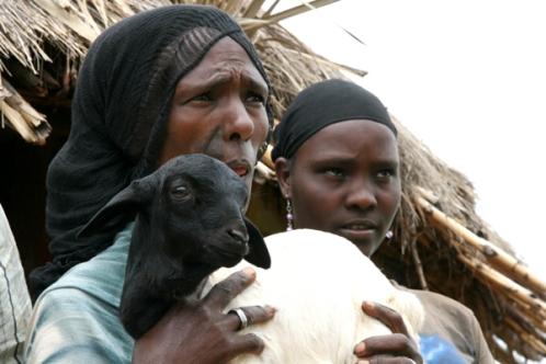 Mrs Maro with her daughter Duri at Melka Oda village, Oromiya, Ethiopia.