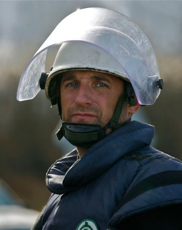 MDD coordinator Vedad Omerhaficovic is a veteran of Bosnian war, former combatant of Army of Bosnia, today making his living in mine clearance.