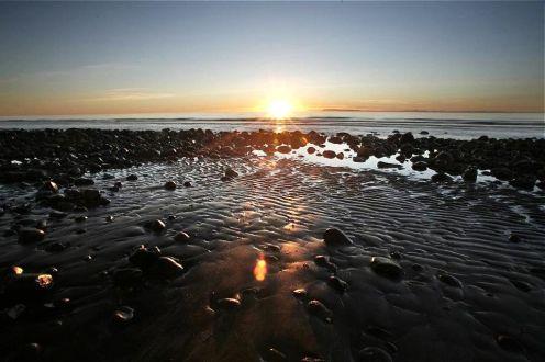 Sunset in Grundarfjörður.