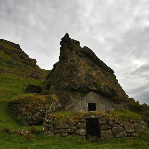 Rutshellir, house of the elves, trolls, huldufolk or just sheep. Not sure about the original inhabitants.