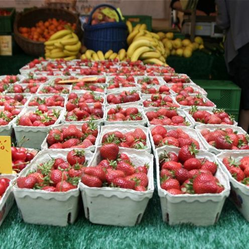 Strawberries and bananas.