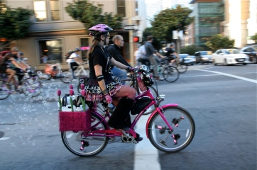 San Francisco Bubbling disco bike at San Francisco Critical Mass Aug 30 2013. Photo: Miikka Järvinen