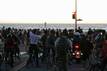 Finally there, at the beach of Pacific. San Francisco Critical Mass Aug 30 2013. Photo: Miikka Järvinen