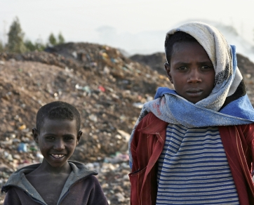 Landfill boys, Amhara, Ethiopia.
