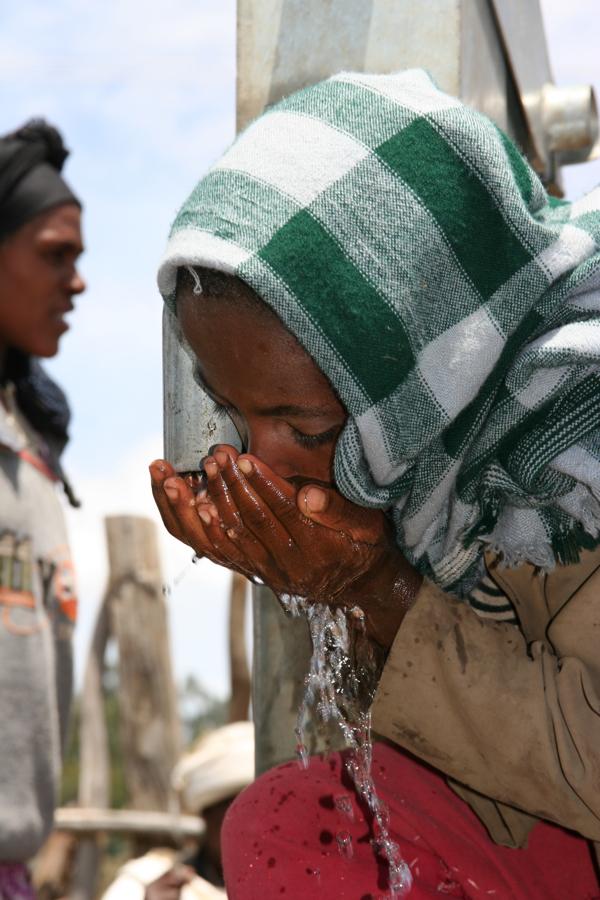 Girl at the well, Washa village, Amhara, Ethiopia