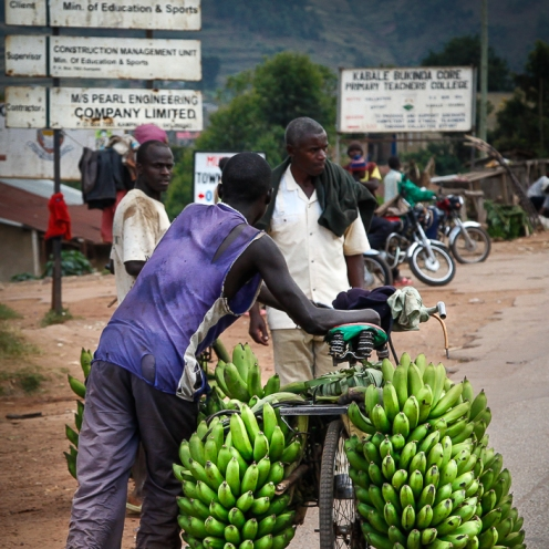 Matoke bike on the road to Kabale town, southwestern Uganda.