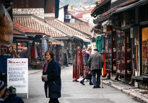 Baščaršija, Sarajevo, Bosnia and Herzegovina.