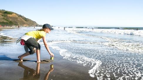 Beach play, California