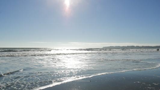At the Beach, Pacific Ocean, California