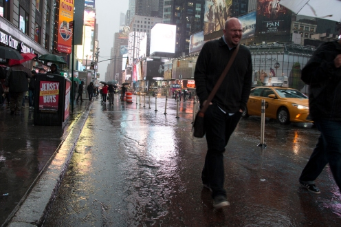 Why I didn't take a jacket?! Rainy Times Square NYC.