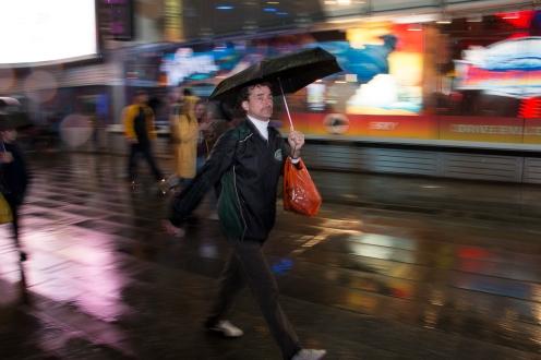 Speedwalk on Times Square NYC.
