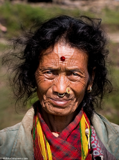Members of internally displaced community of indigenous Thami tribe in Dolakha district, East-Central Nepal. October 2015.