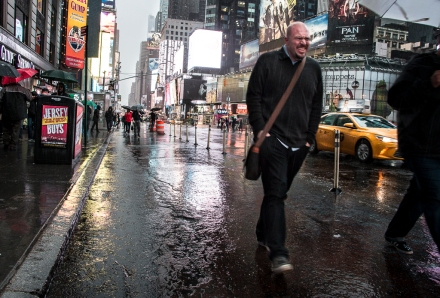 Why didn't I take a jacket?! Rainy Times Square NYC.