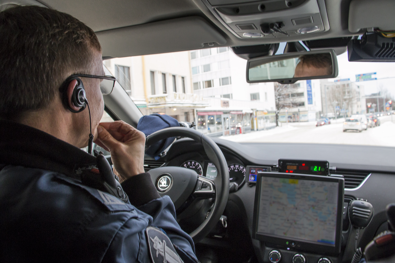 Poliisin liikennepartio Lahdessa